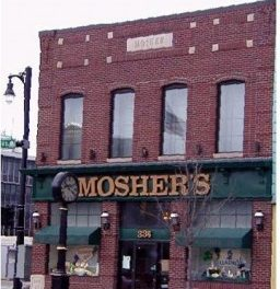 store front for Mosher's Jewelers