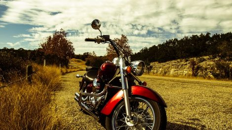 motorcycle outdoors scence