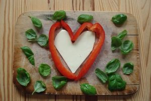heart-shaped food