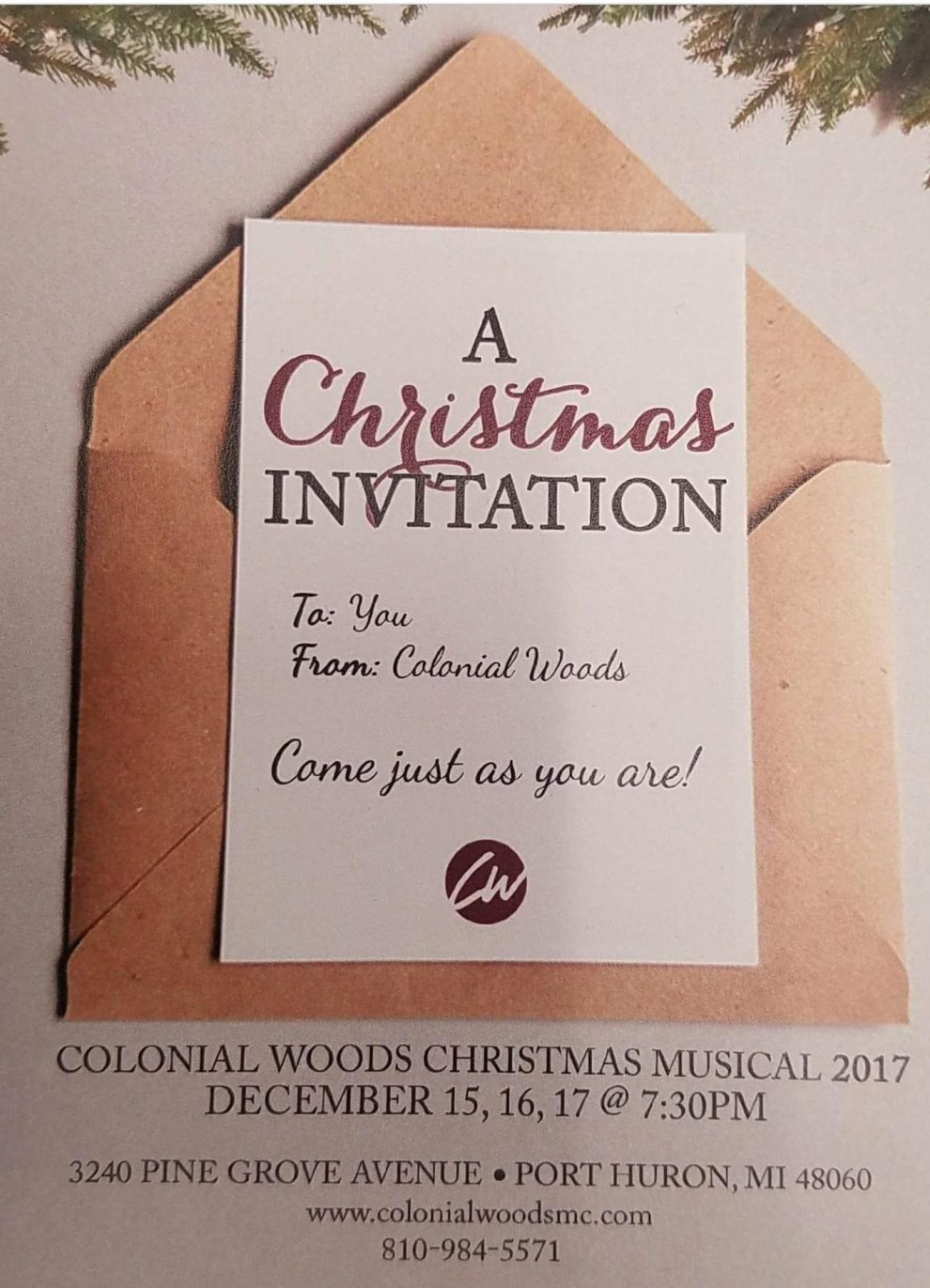 the colonial woods missionary church presents a christmas