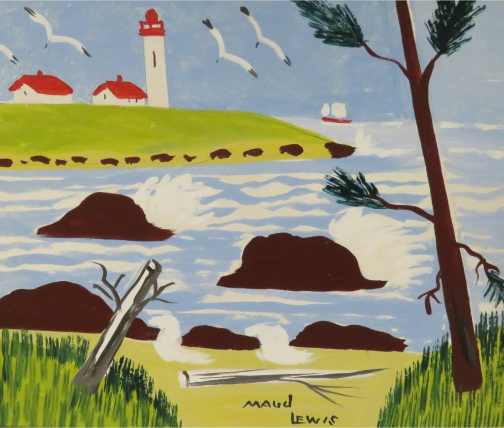 Maud Lewis Yarmouth County Lighthouse, 1964