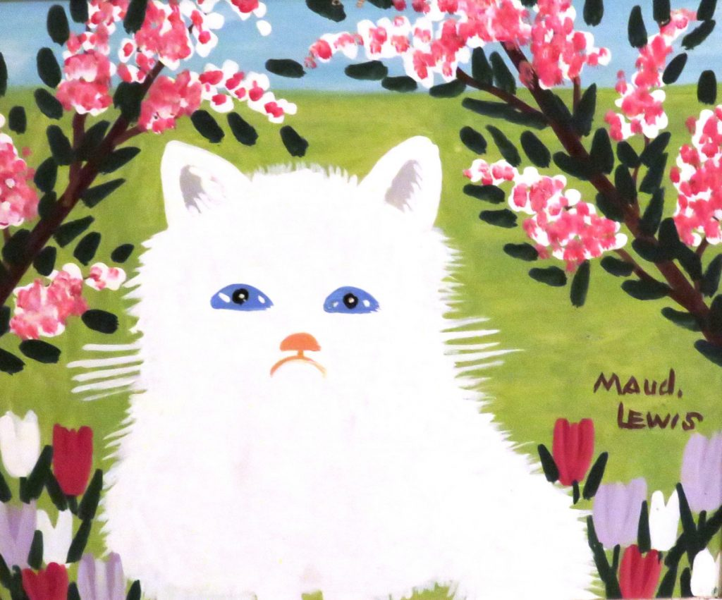 Maud Lewis White Cat, 1960s
