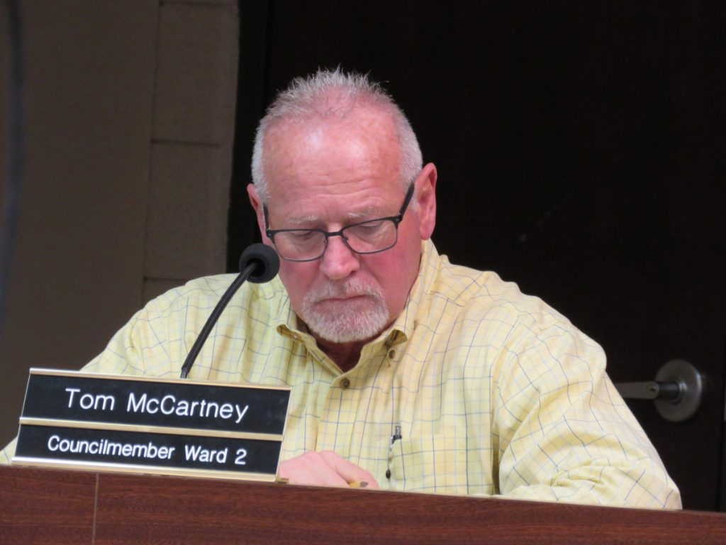 Tom McCartney, city council member.