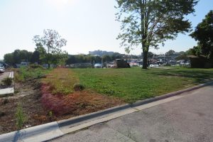 St. Clair's new public parking lot, east of the South Fifth Street at the head of Pine Street near the Pine River.