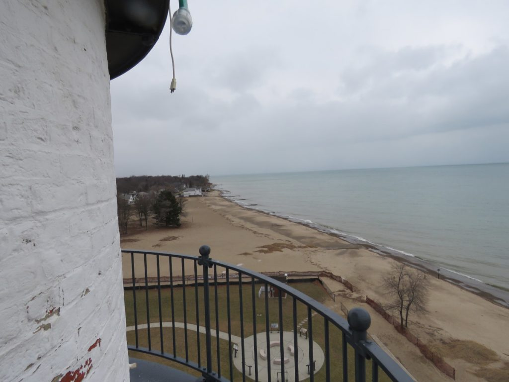 Looking north over Lighthouse Beach from the top of Fort Gratiot Light.