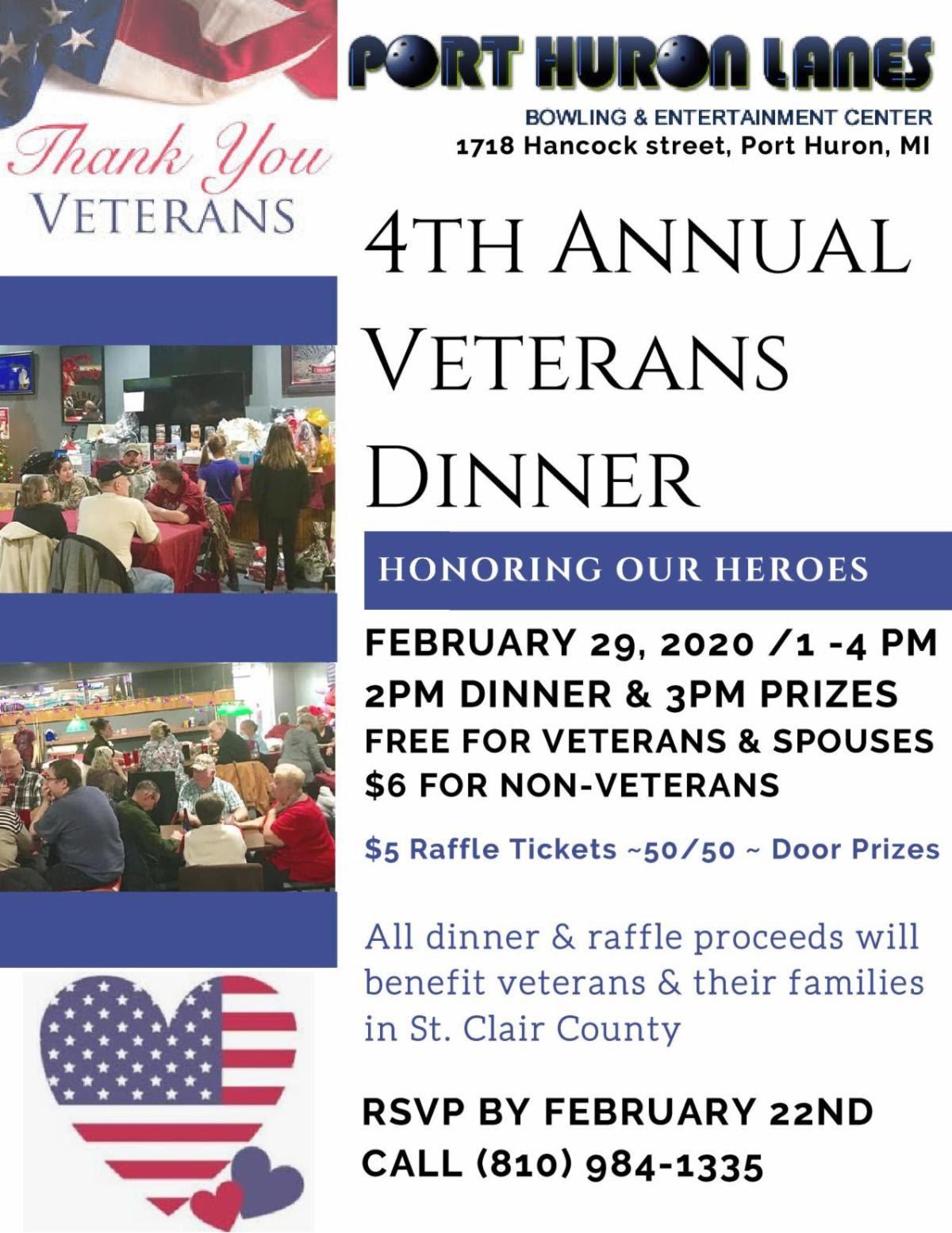 4th Annual Veterans Dinner Blue Water Healthy Living