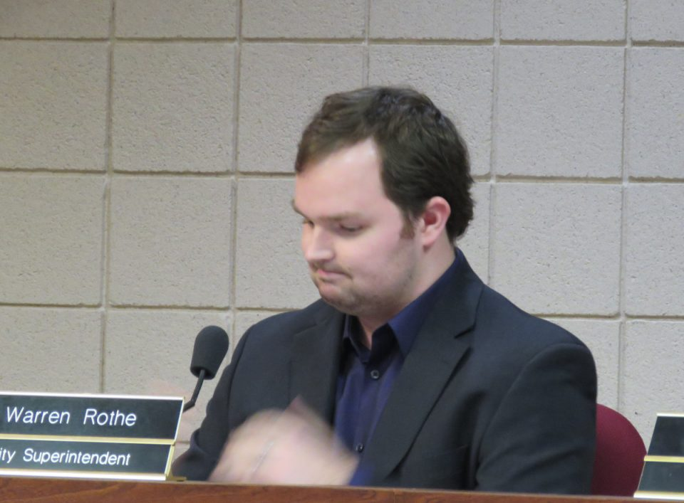Warren Rothe, St. Clair city superintendent, at the Feb. 3 council meeting.