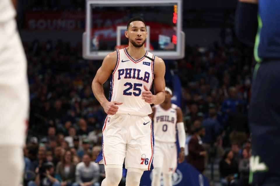 Philadelphia 76ers guard Ben Simmons of Australia will miss another three weeks with a back problem - RONALD MARTINEZ / ©AFP