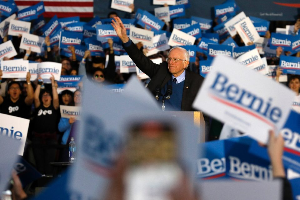 Bernie Sanders is on the back foot after his rival Joe Biden surged in the Democratic primary race - JEFF KOWALSKY / ©AFP