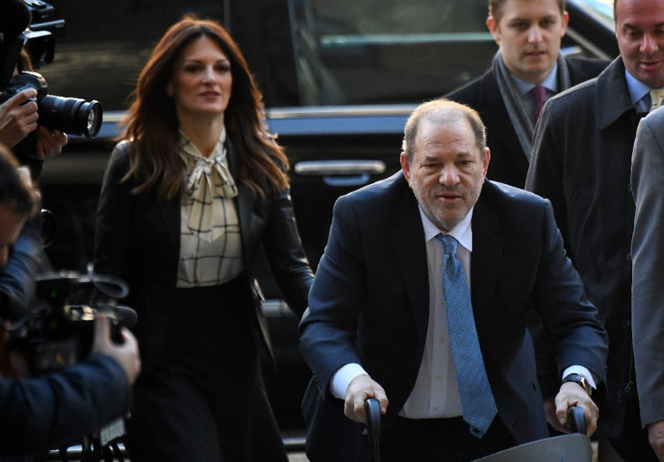 Harvey Weinstein, seen here arriving at Manhattan criminal court in a wheelchair February 24, has been transferred to a prison north of New York City - Johannes EISELE / ©AFP