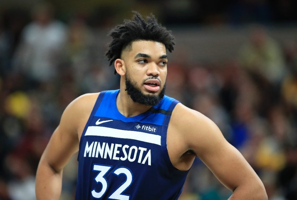 Minnesota Timberwolves center Karl Anthony-Towns said in a Wednesday Instagram post that his mother is in a coma due to what he believes is the coronavirus - ANDY LYONS / ©AFP