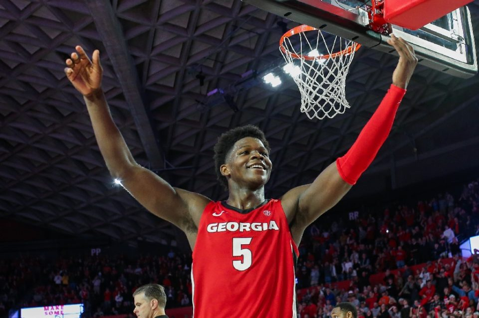 University of Georgia star guard Anthony Edwards said Friday he is leaving school after one season to become eligible for the 2020 NBA Draft, where he is expected to be one of the first players selected - Carmen Mandato / ©AFP