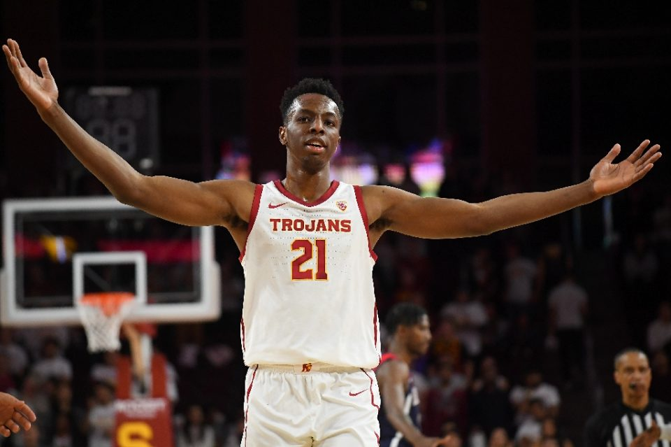 University of Southern California teen forward Onyeka Okongwu announced Wednesday he is declaring for the 2020 NBA Draft and ending his college career - Jayne Kamin-Oncea / ©AFP