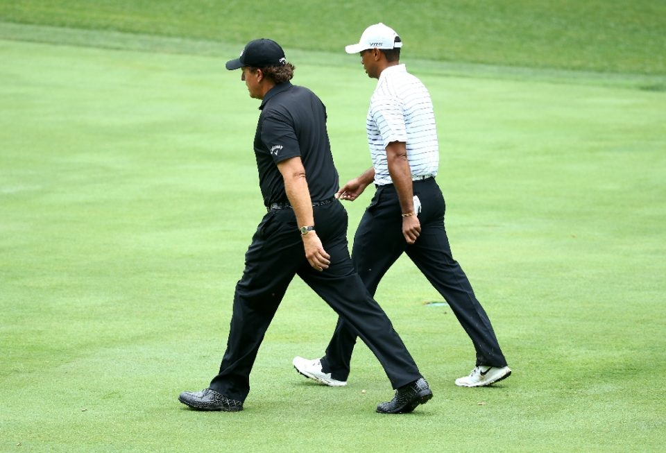 Phil Mickelson, left, and Tiger Woods could meet in a rematch of a 2018 made-for-television event - ANDY LYONS / ©AFP
