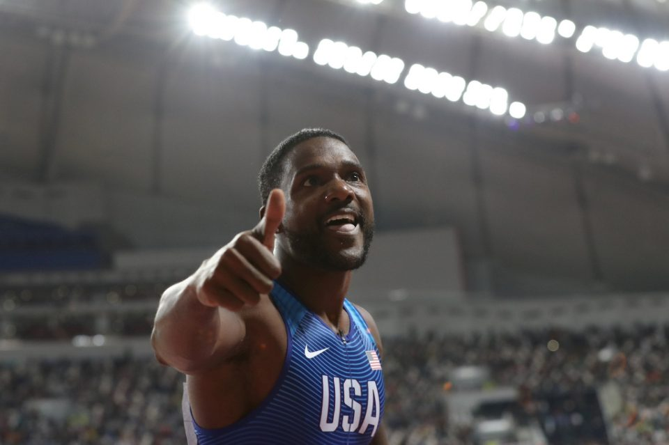 USA's Justin Gatlin says he will delay his retirement to chase medals at the rescheduled Tokyo Olympics - KARIM JAAFAR / ©AFP