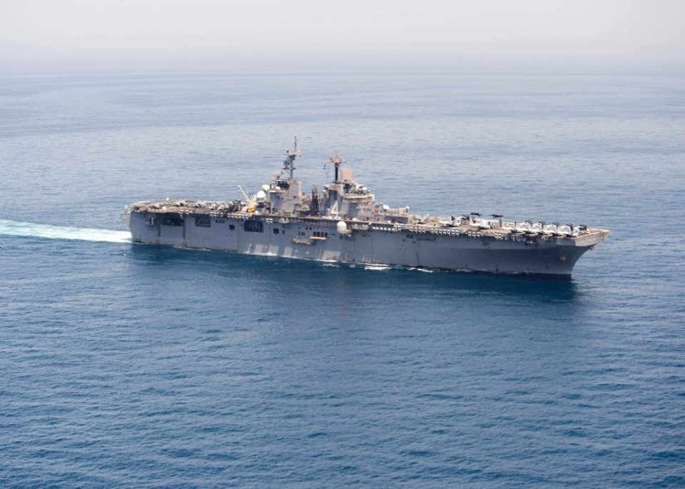 The USS Boxer, shown here in a navy handout picture, is the first US warship to report a case of suspected coronavirus - Craig Z. Rodarte / ©AFP