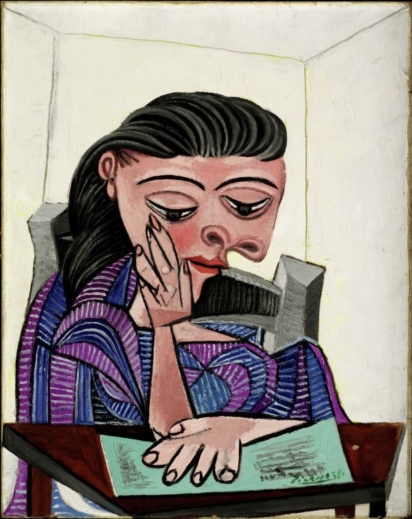 """Picasso's """"Girl Reading,"""" a 1938 oil on canvas. Photo courtesy of the Detroit Institute of Art."""