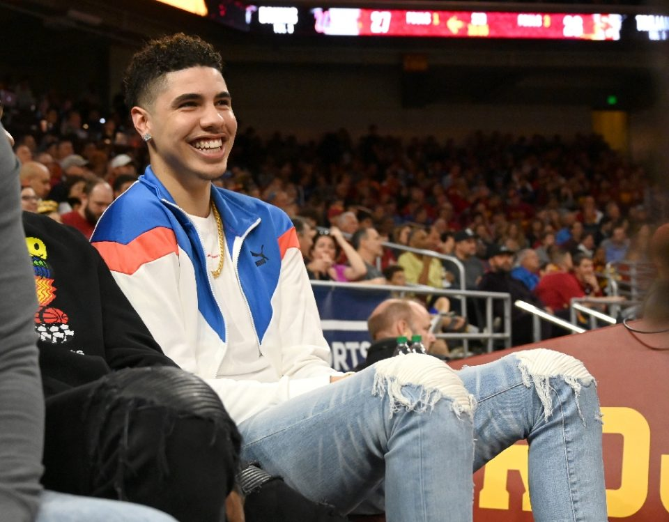 LaMelo Ball, tipped as a possible number one NBA draft choice, at a US college basketball game in March. The Minnesota Timberwolves won the top pick in the October 2020 draft in the draft lottery - Jayne Kamin-Oncea / ©AFP