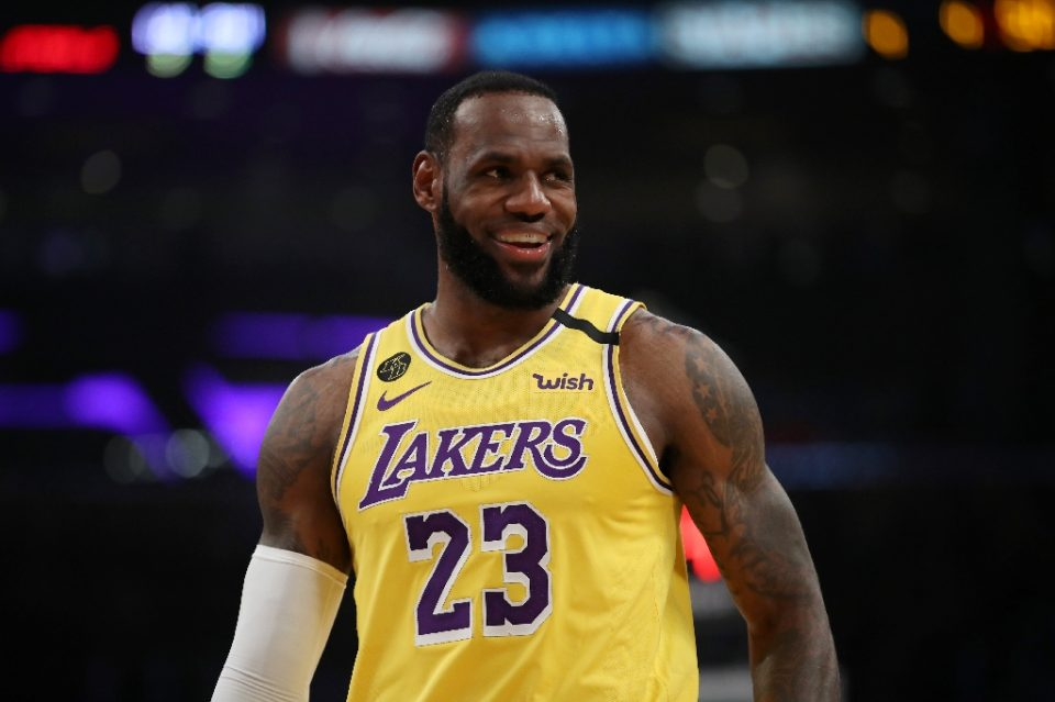 LeBron James says he has been self-isolating by spending time with his family members and talking on the phone to his coaches and teammates - Katelyn Mulcahy / ©AFP