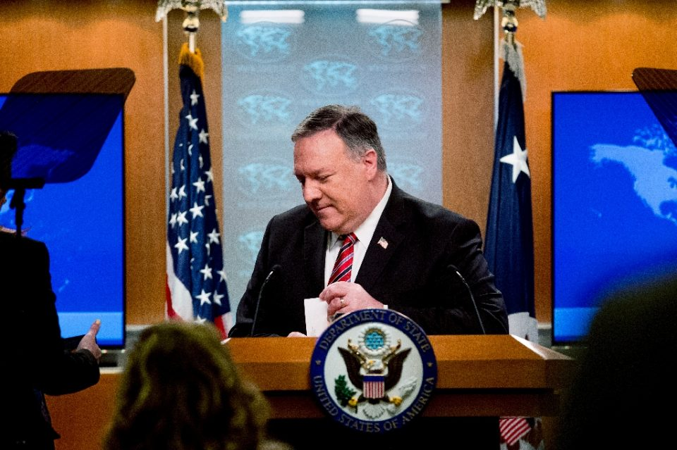 US Secretary of State Mike Pompeo steps away from the podium following a news conference at the State Department - Andrew Harnik / ©AFP