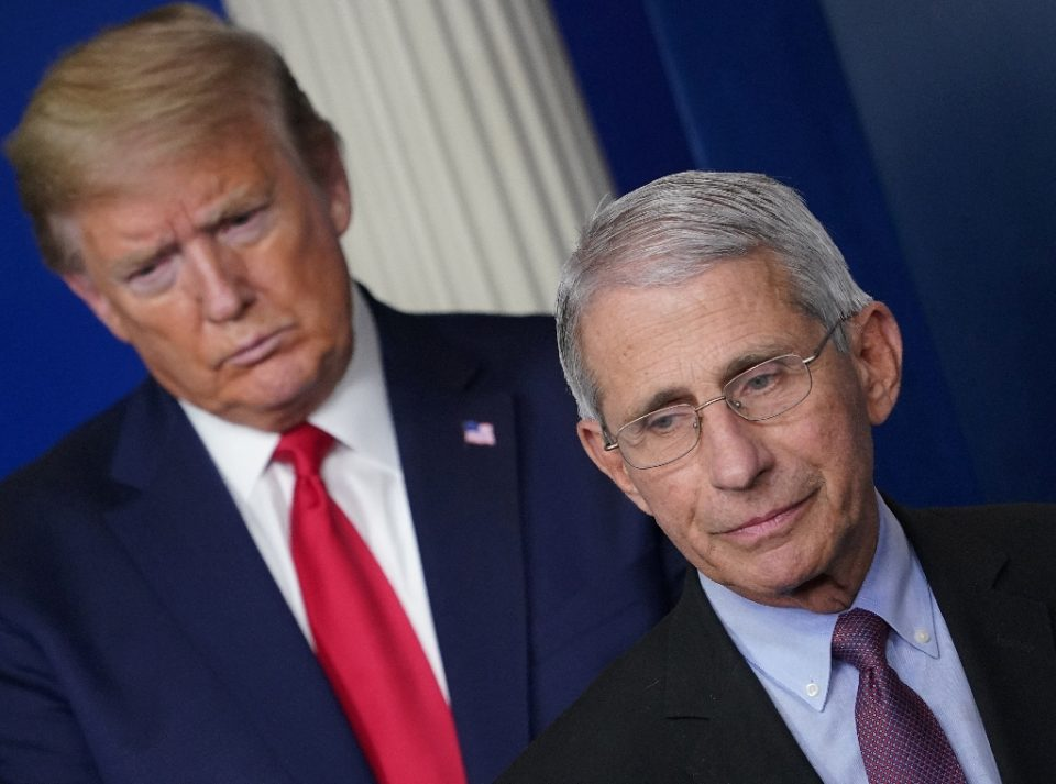 A rift is growing between infectious diseases expert Anthony Fauci and US President Donald Trump - MANDEL NGAN / ©AFP