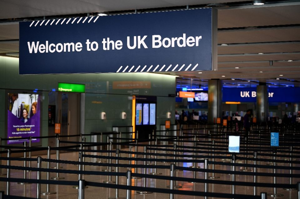 A 14-day quarantine for all international arrivals in Britain is coming under fire from airlines - Daniel LEAL-OLIVAS / ©AFP