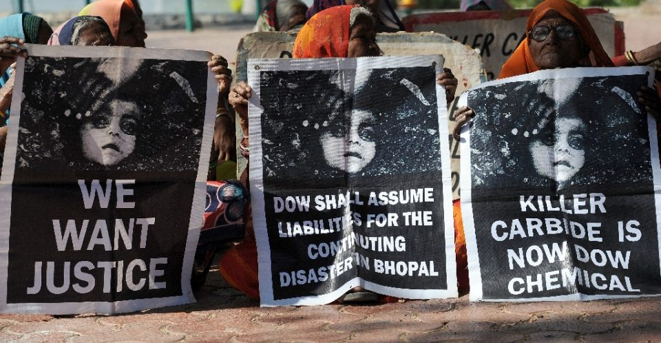 """Victims of the 1984 gas leak in Bhopal have long campaigned for justice - INDRANIL MUKHERJEE / ©AFP"""
