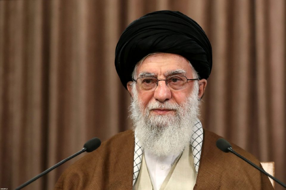 """Supreme leader Ayatollah Ali Khamenei lashed out at Western governments and their Arab """"puppets"""" for supporting the Jewish state, in his first ever speech marking Quds (Jerusalem) Day, Iran's annual show of solidarity with the Palestinians - - / ©AFP"""