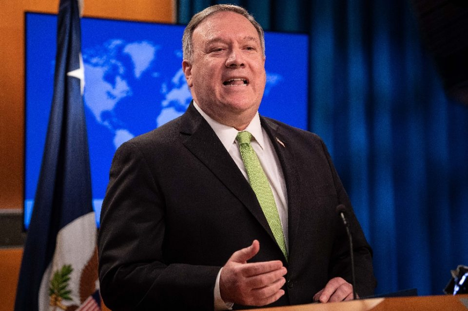Secretary of State Mike Pompeo said Washington could decline to certify Hong Kong as autonomous under a new US law - NICHOLAS KAMM / ©AFP