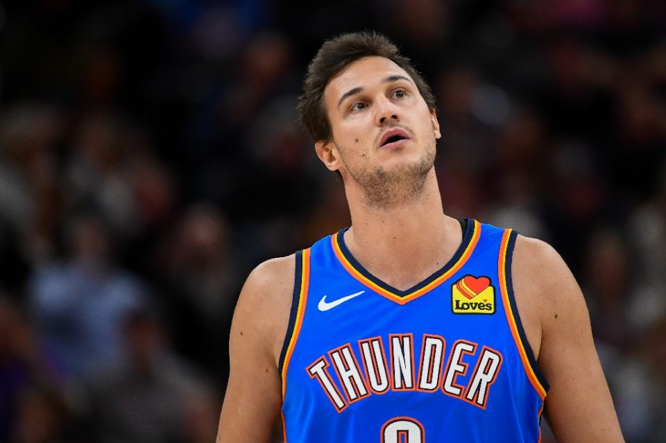 Italian forward Danilo Gallinari of the Oklahoma City Thunder says the NBA must stress safety when pondering plans to resume the 2019-20 season halted by the coronavirus pandemic - Alex Goodlett / ©AFP