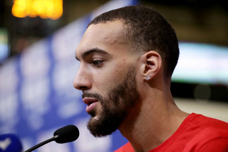Utah Jazz star Rudy Gobert has admitted he had not taken the coronavirus threat seriously prior to his positive test for COVID-19 - JONATHAN DANIEL / ©AFP