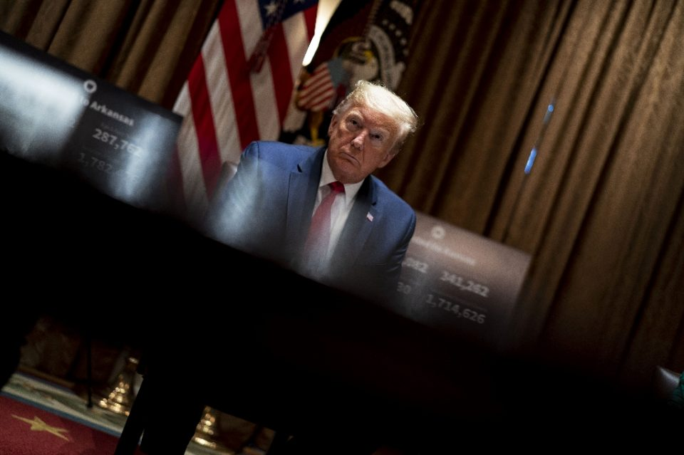 """""""President Donald Trump is eager to put the coronavirus pandemic behind him as he seeks to resurrect the US economy and win re-election - POOL / ©AFP"""""""