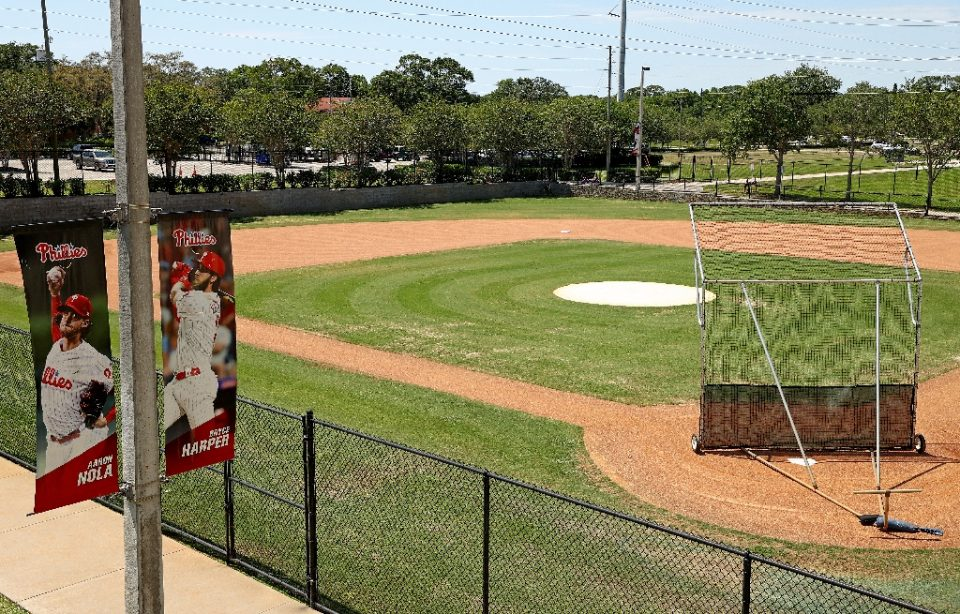 Spectrum Field, the spring training home of the Philadelphia Phillies in Clearwater, Florida, is pictured empty on May 20 - Mike Ehrmann / ©AFP