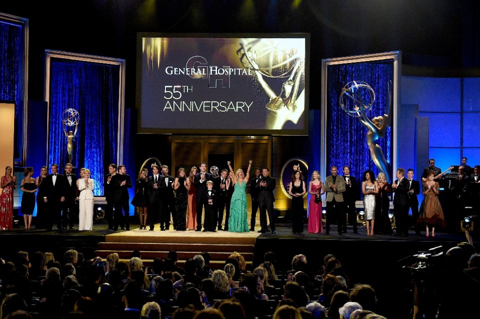 "The cast and crew of ""General Hospital"" are seen here at the annual Daytime Emmy Awards in 2018 -- the show is one of the longest-running programs on television - KEVORK DJANSEZIAN / ©AFP"