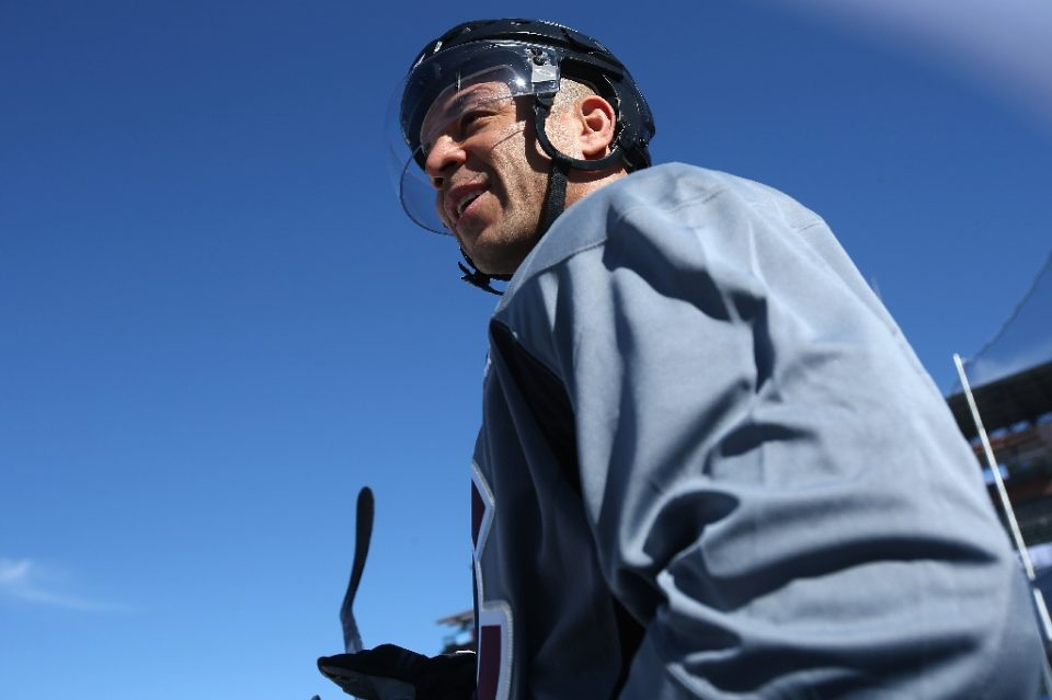"""Jarome Iginla, seen here before an NHL outdoor game in 2016, has been elected to the Hockey Hall of Fame - DOUG PENSINGER / ©AFP"""