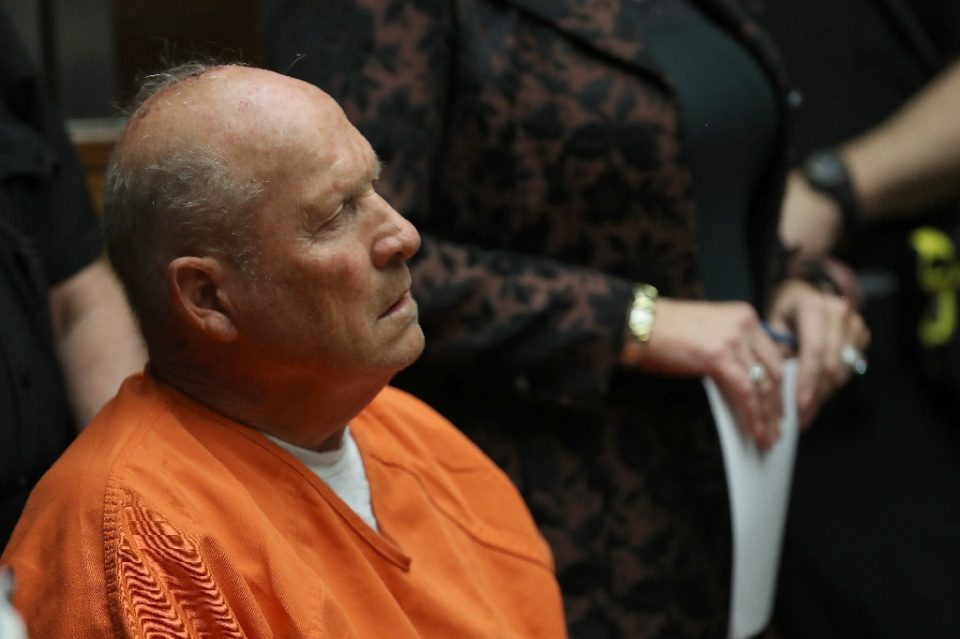"""Joseph James DeAngelo Jr., pictured at his arraignment on April 27, 2018, has confessed to being the notorious """"Golden State"""" killer and rapist who stalked California during the 1970s and 1980s (AFP Photo/JUSTIN SULLIVAN)"""