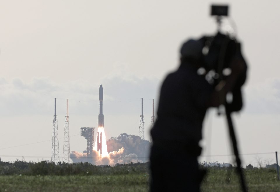 An Atlas V rocket with the Perseverance rover lifts off from Launch Complex 41 at Cape Canaveral Air Force Station in Florida (AFP Photo/Gregg Newton)
