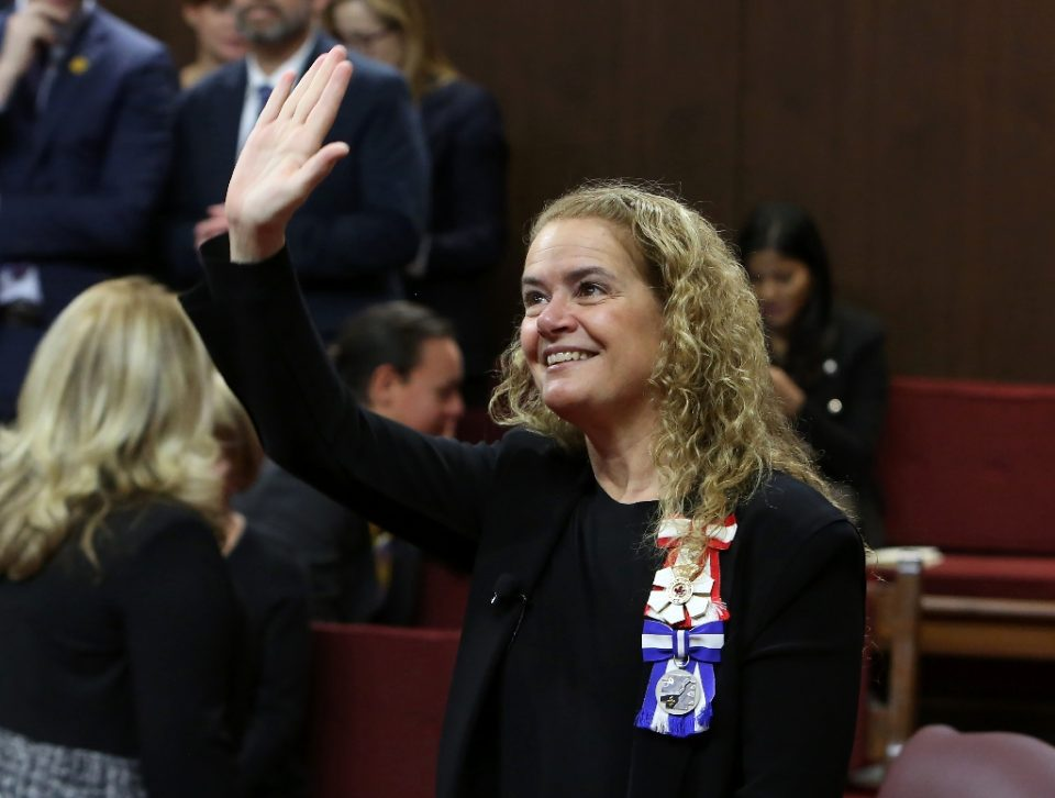 Governor General Julie Payette, a former astronaut, was nominated to the largely ceremonial post in 2017 to represent Queen Elizabeth II in Canada, a Commonwealth country (AFP Photo/Fred Chartrand)