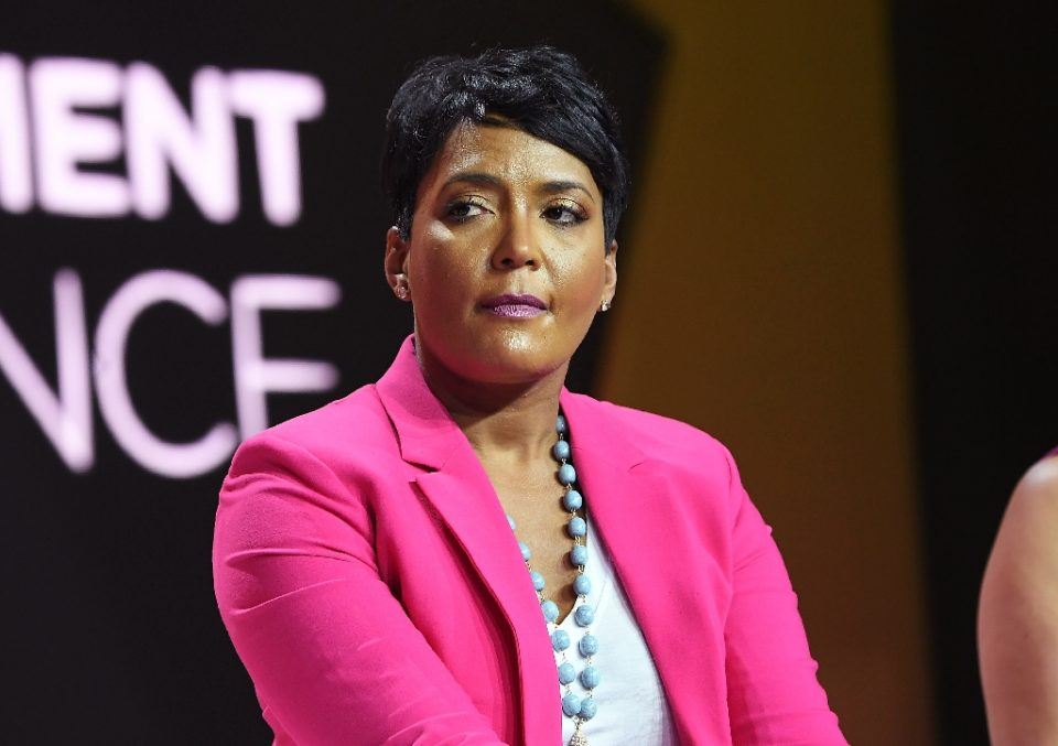 Atlanta mayor Keisha Lance Bottoms, pictured in 2018, has framed the disagreement as a public health policy dispute, while state authorities have said they are focused on the technicalities of their parallel mandates (AFP Photo/Paras Griffin)