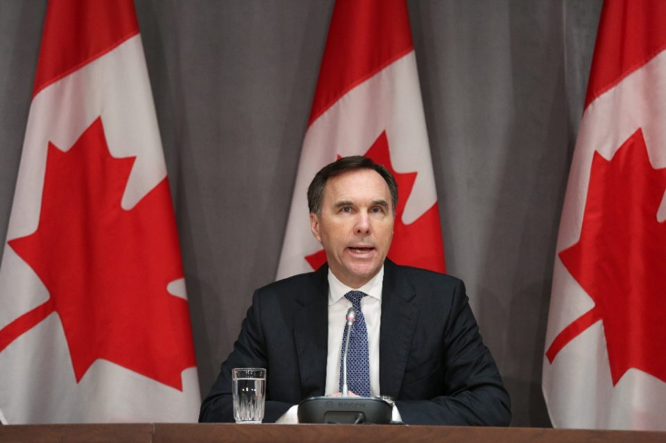 Canada's Finance Minister Bill Morneau has come under scrutiny in a widening ethics probe over a contract to a charity that paid large sums to members of Prime Minister Justin Trudeau's family - Dave Chan / ©AFP