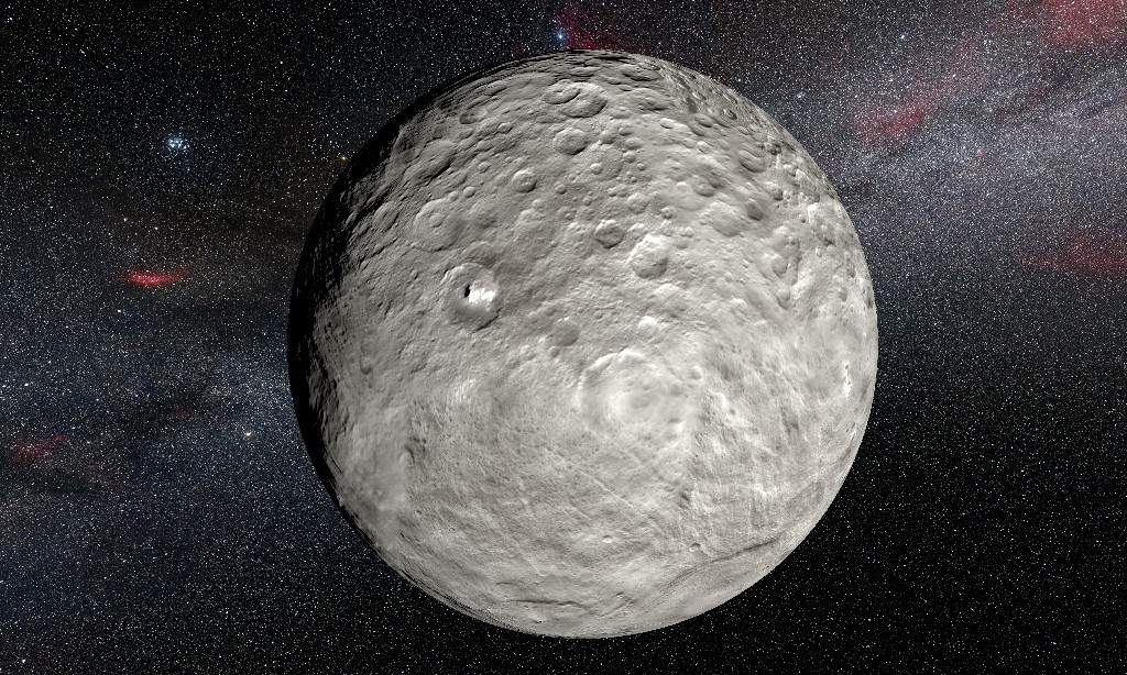 Ceres is the largest object in the asteroid belt between Mars and Jupiter and has its own gravity - L.Calcada / ©AFP