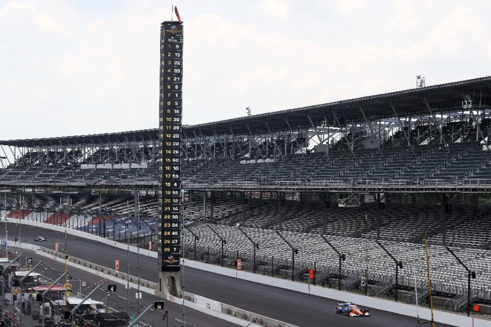 No-show: fans will be locked out of the Indianapolis Motor Speedway for this year's Indy 500 (AFP Photo/Chris Graythen)