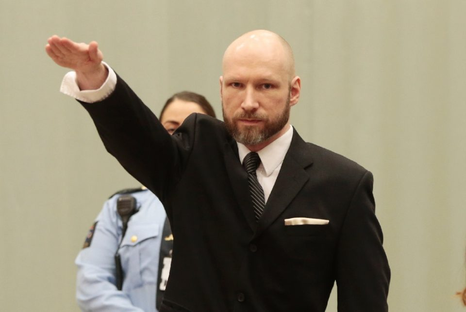 Norwegian Anders Behring Breivik gunned down 69 people at a youth camp on the island of Utoya, shortly after killing eight people in a bombing outside a government building in Oslo in 2011 - Lise AASERUD / ©AFP