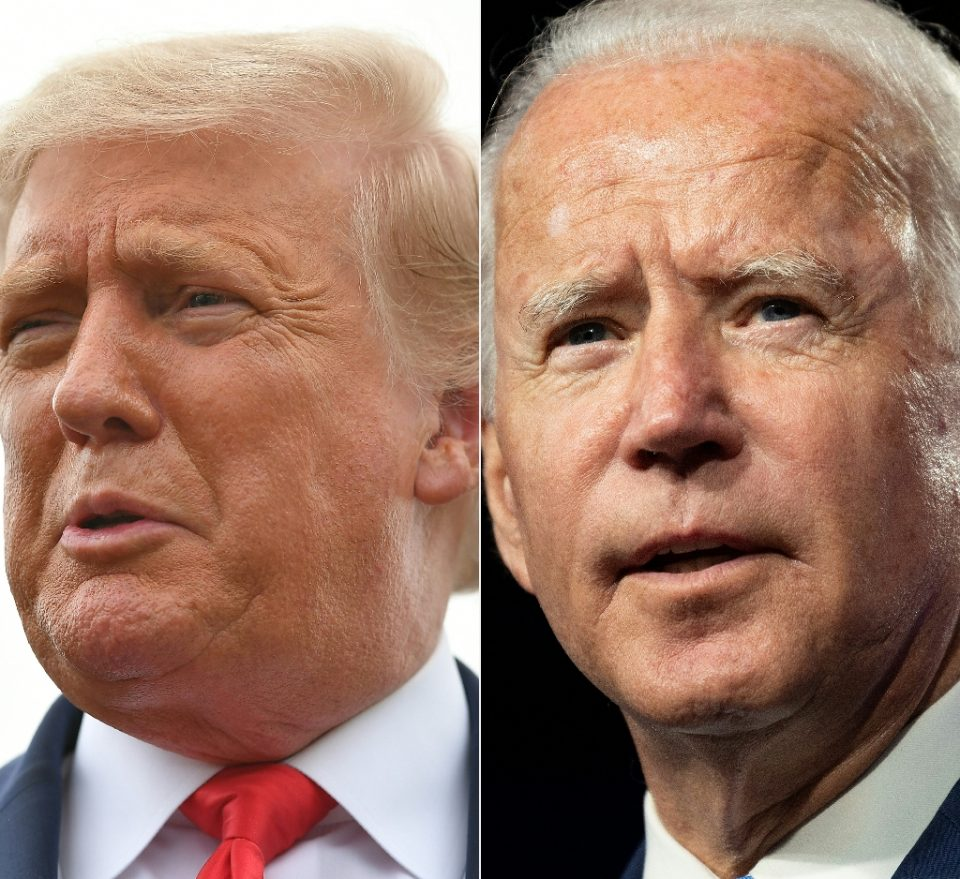 """""""US President Donald Trump (L) has for months tried to persuade voters that Democratic opponent Joe Biden is suffering from mental decline - MANDEL NGAN, JIM WATSON / ©AFP"""""""