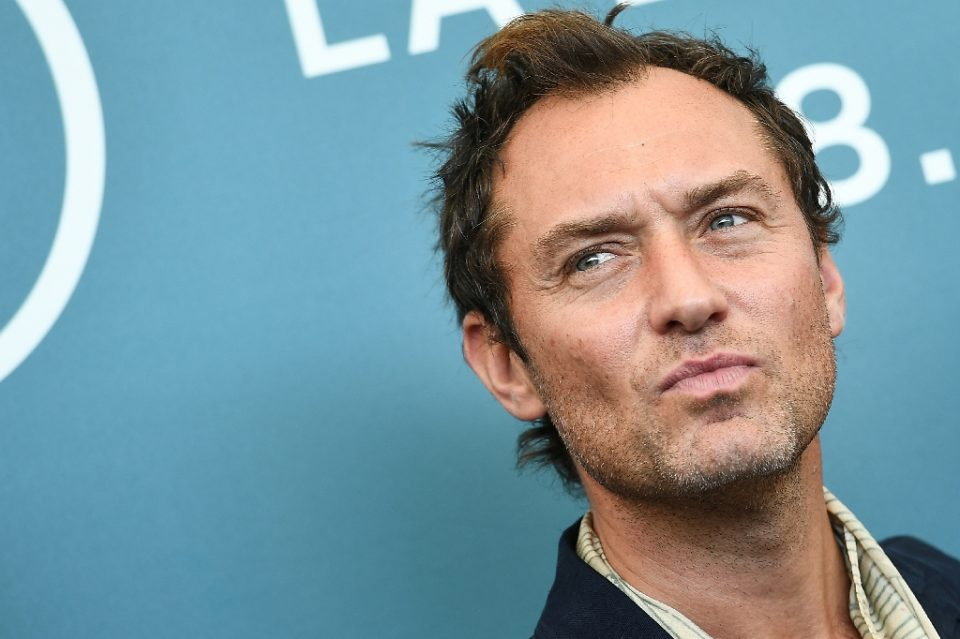 """Jude Law, seen here at the Venice Film Festival in September 2019, is starring in the audacious mini-series """"The Third Day"""" - Vincenzo PINTO / ©AFP"""