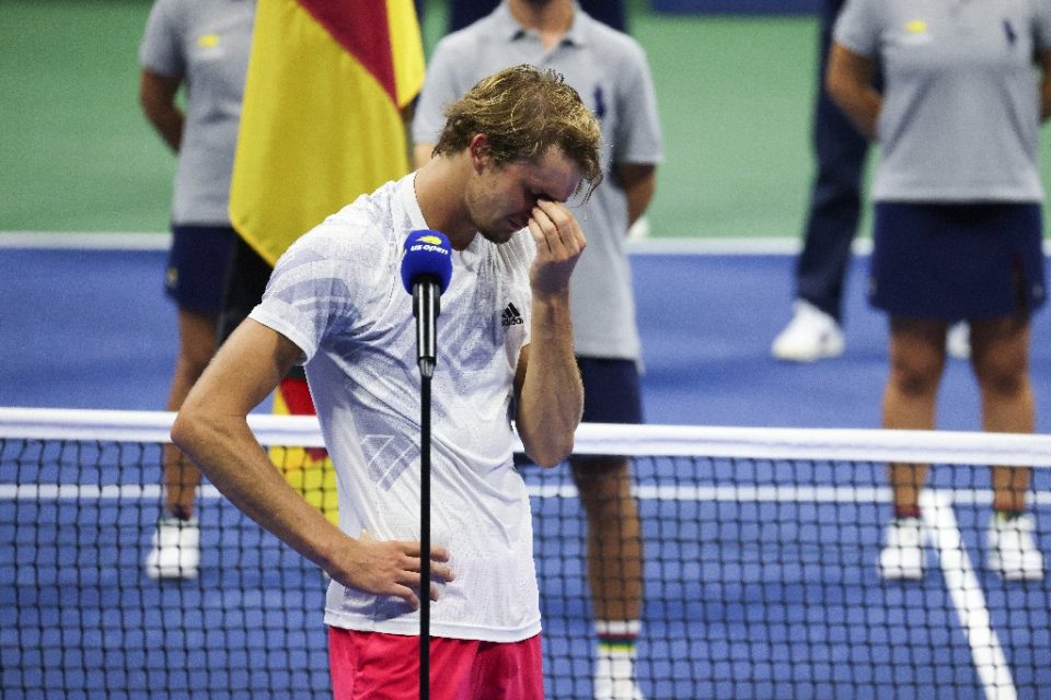 Alexander Zverev after losing the final of the 2020 US Open - AL BELLO / ©AFP