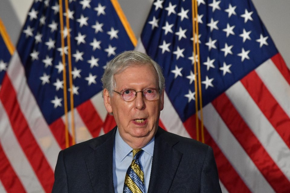 US President Donald Trump suggested he might not honor the results of the November 3, 2020 presidential election, but Republican Senate Majority Leader Mitch McConnell said an orderly transition is not in question - Nicholas Kamm / ©AFP