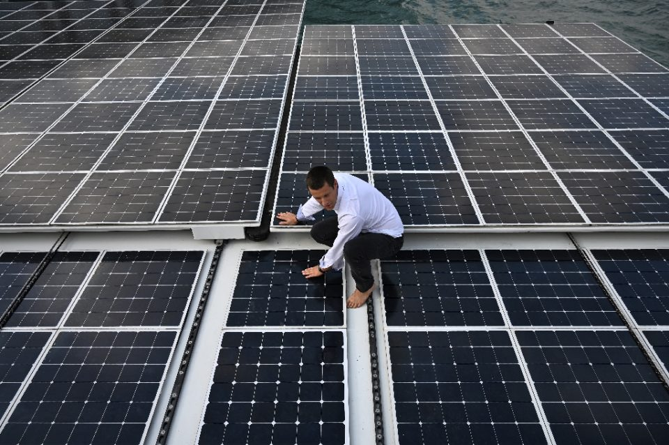 """The Energy Transitions Commission (ETC) said clean energy provision must be ramped up at a pace nearly six times higher than currently - Philip FONG / ©AFP"