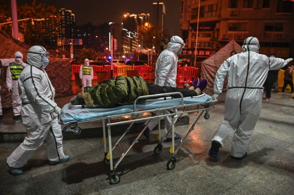 """""""76 Days"""" -- named for the duration of Wuhan's draconian lockdown -- is the first major documentary from the disease's original epicenter to hit theaters - Hector RETAMAL / ©AFP"""