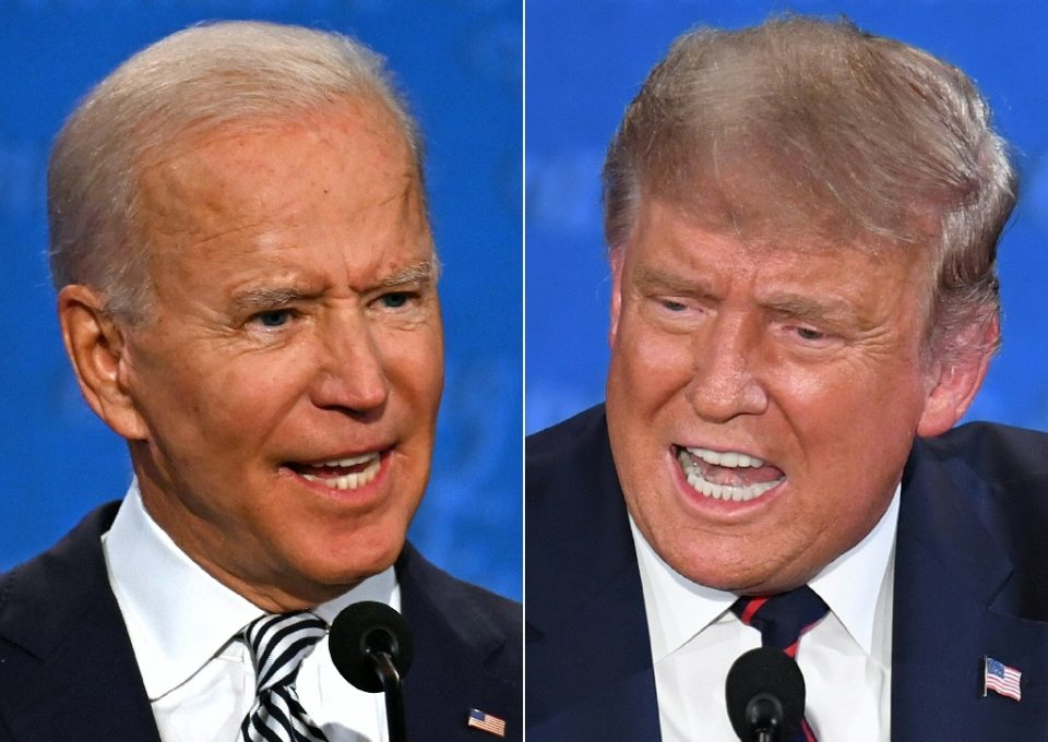 Their second head-to-head debate was cancelled, but Joe Biden and Donald Trump will hold separate town hall events at the same time instead - JIM WATSON, SAUL LOEB / ©AFP